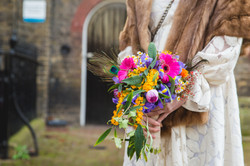 Colourful cascade bouquet