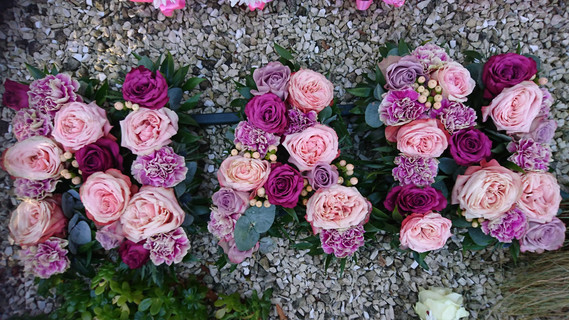 Nan tribute flowers