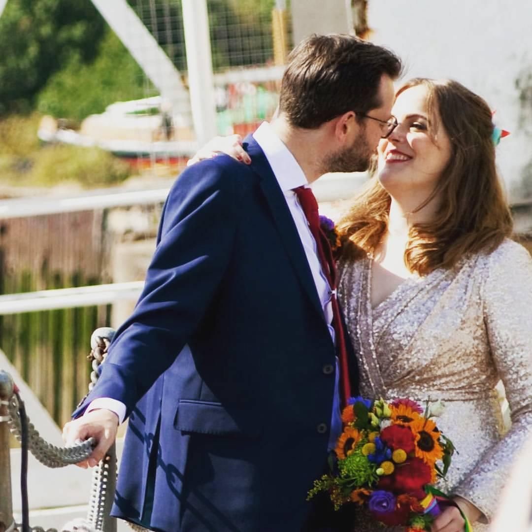 Colourful summer wedding flowers