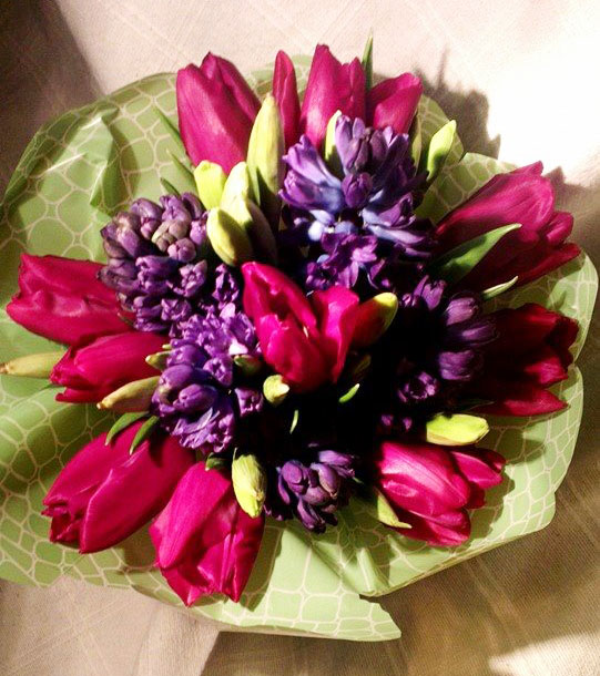Spring gift bouquet