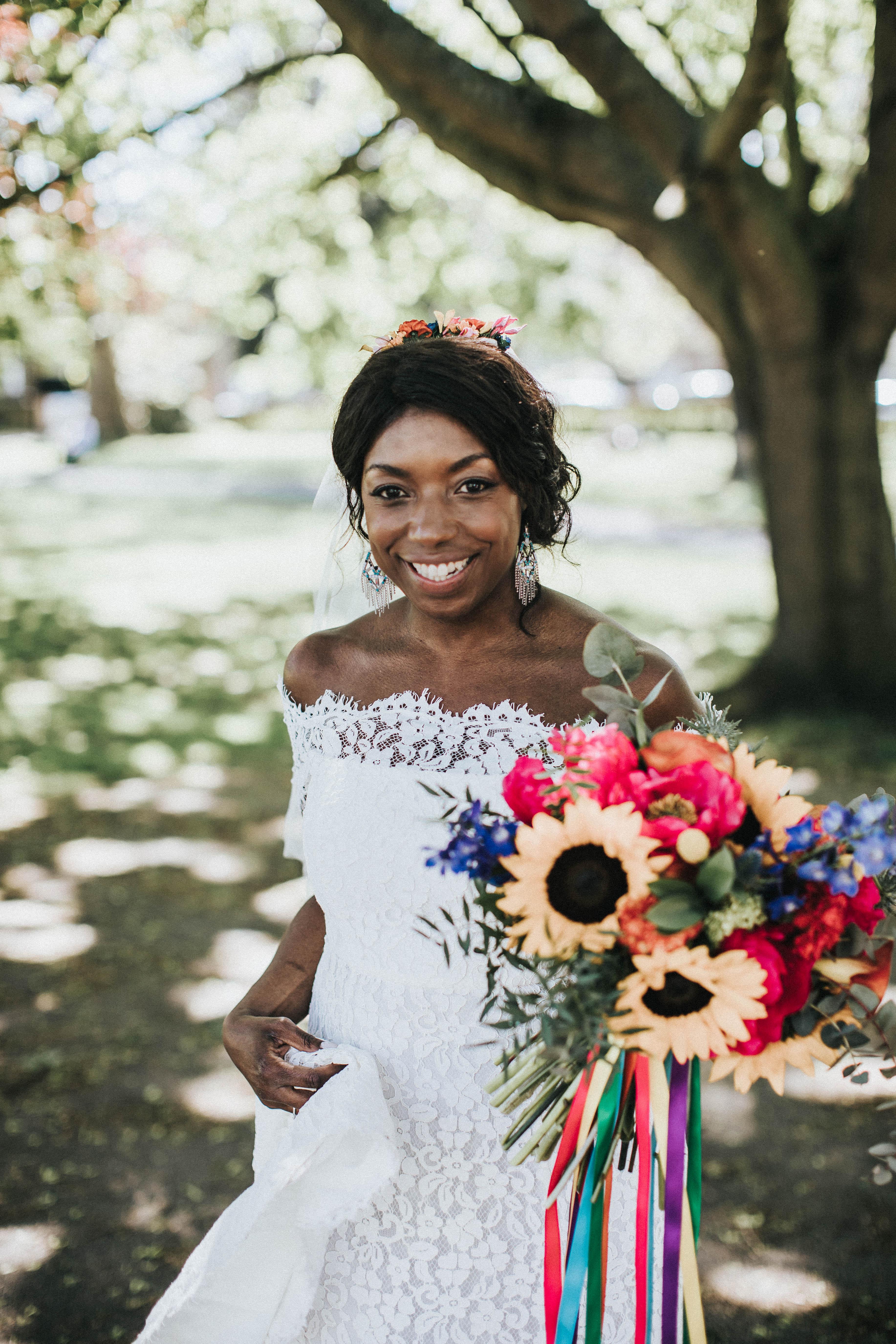 Luxury rustic wedding bouquet