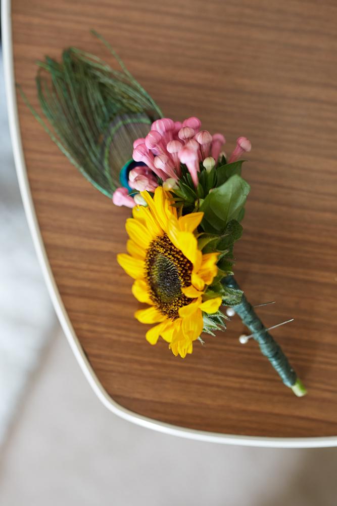 Sunflower buttonhole