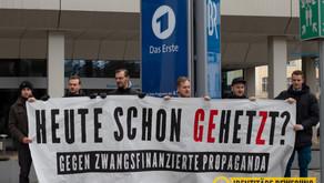 Kundgebung gegen zwangsfinanzierte Propaganda in München