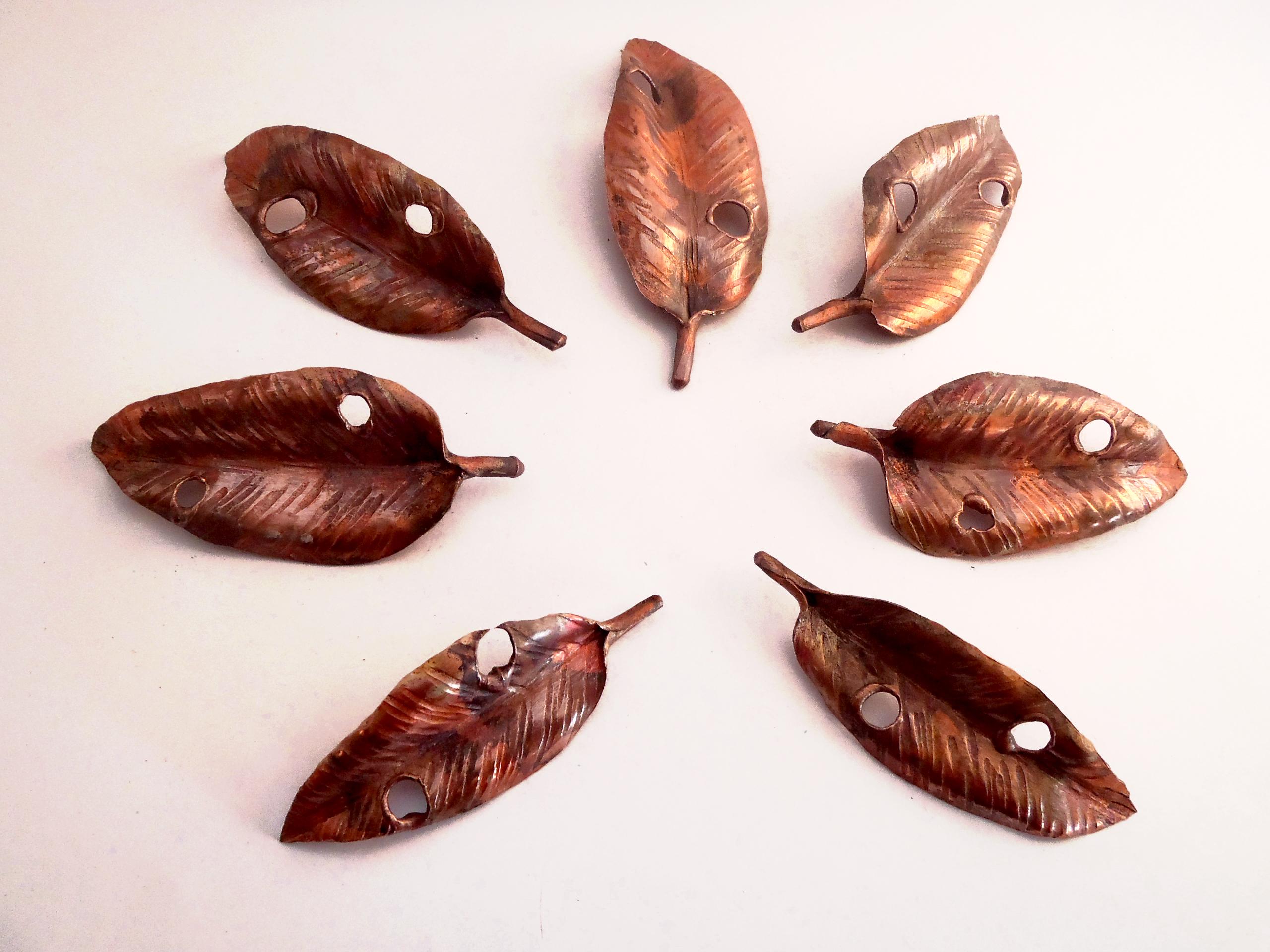 Pohutukawa Leaf Brooches