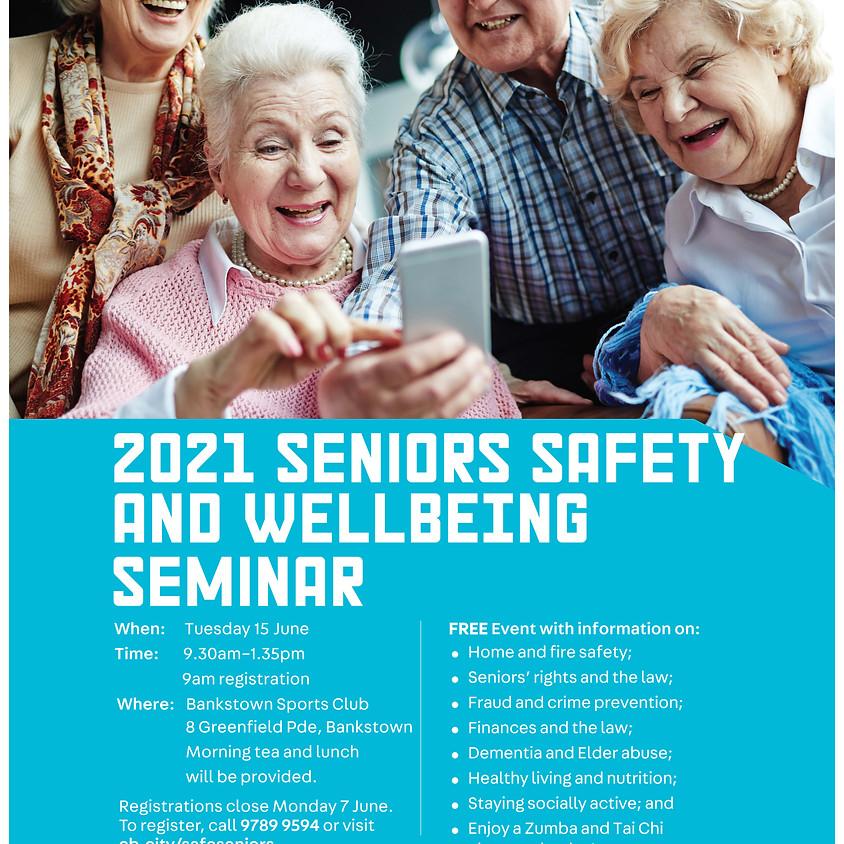 Canterbury-Bankstown 2021 Seniors Safety & Wellbeing Seminar