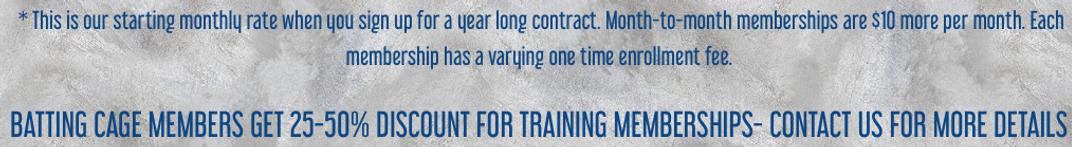 Training Membership pricing clarificatio
