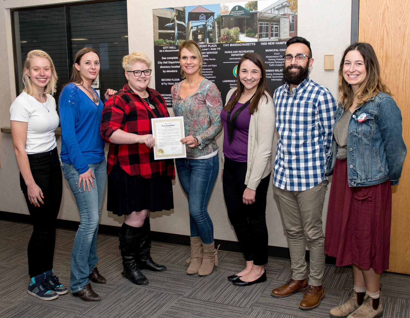 Youth Trust Project and Willow Staff accepting City Human Trafficking Awareness Month Proclamation