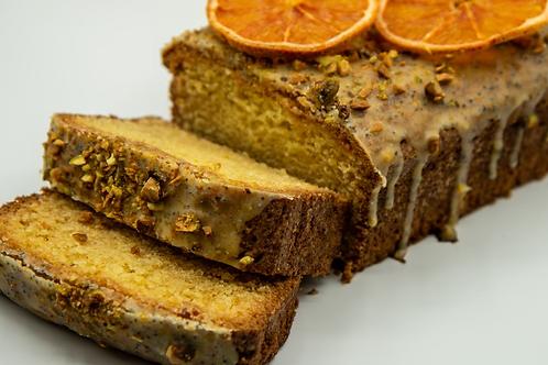 Olive Oil Loaf With a Poppy Citrus Glaze