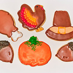 Thanksgiving Hand Painted Sugar Cookies (6 Pack)
