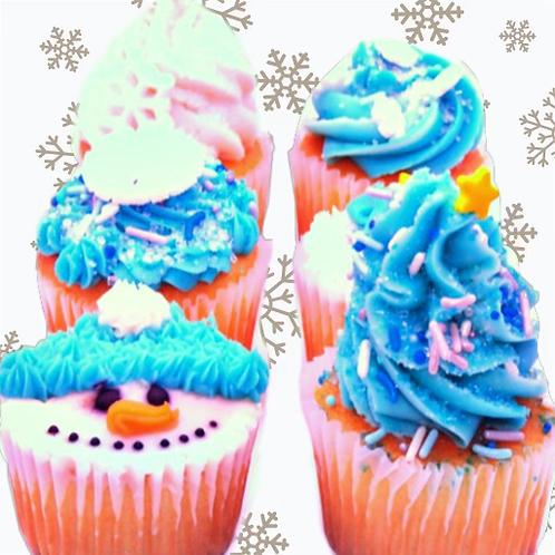 Winter Cupcakes (6 Pack)