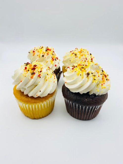 Carrot Cupcake and Cream Cheese Frosting