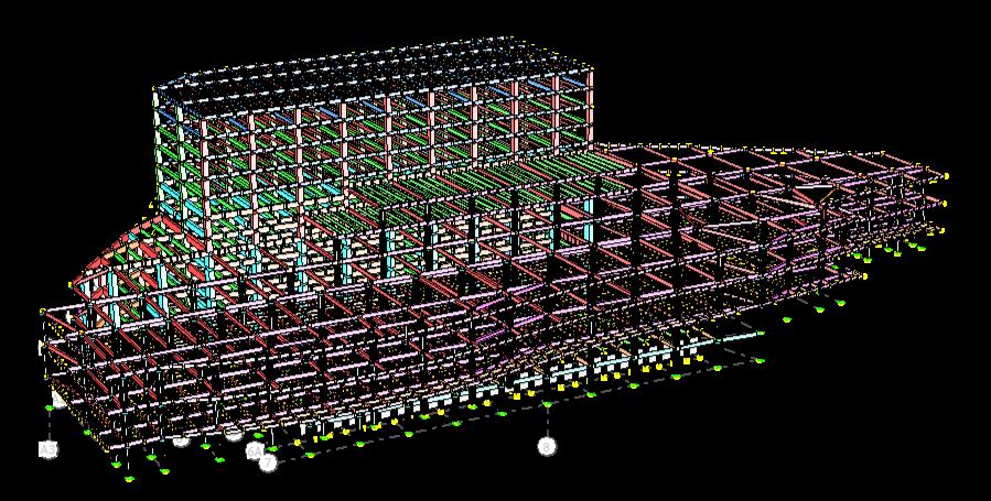 Modelo Estructural Plaza comercial 2