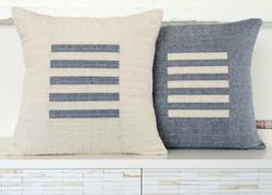 Homespun Stripe Limestone/Indigo