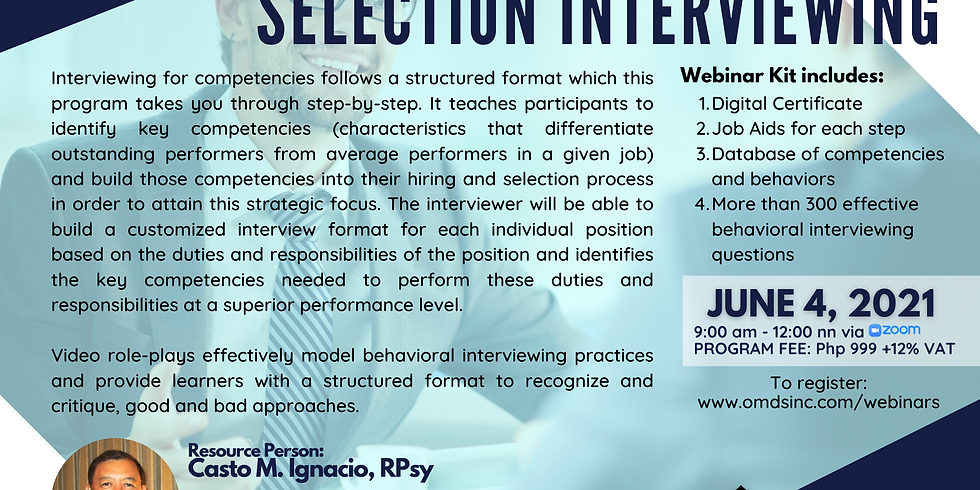 Competency-based Selection Interviewing