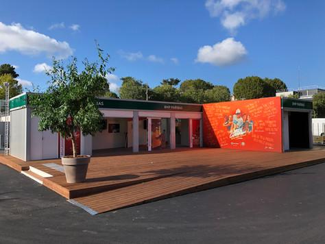 Roland Garros 2020 : Inergeen 120 m² de structure Cubeen installés en quelques jours !