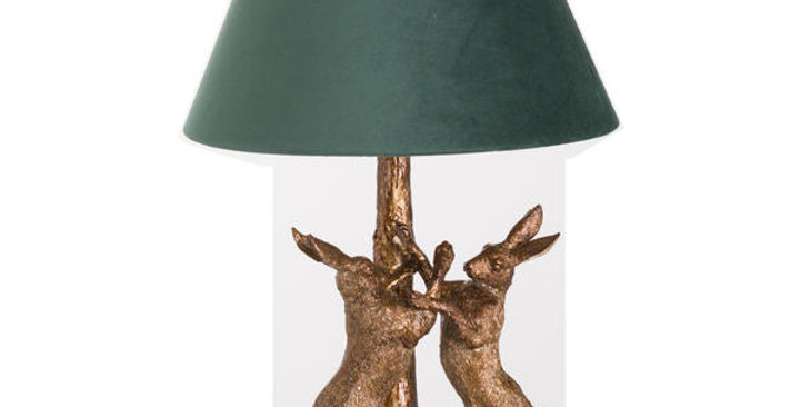 gold hares lamp