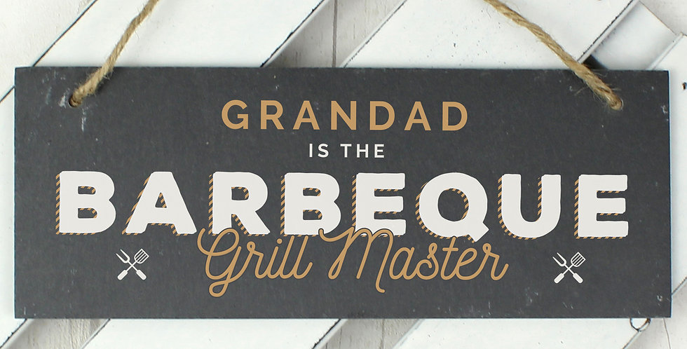 """Personalised """"Barbeque Grill Master"""" Sign"""