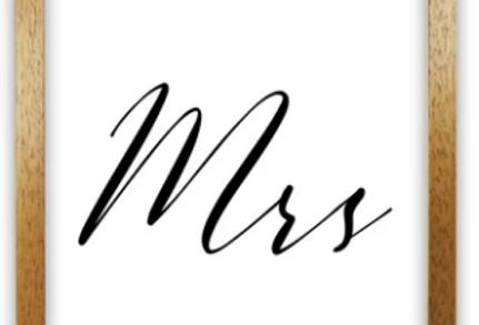 mr or mrs print