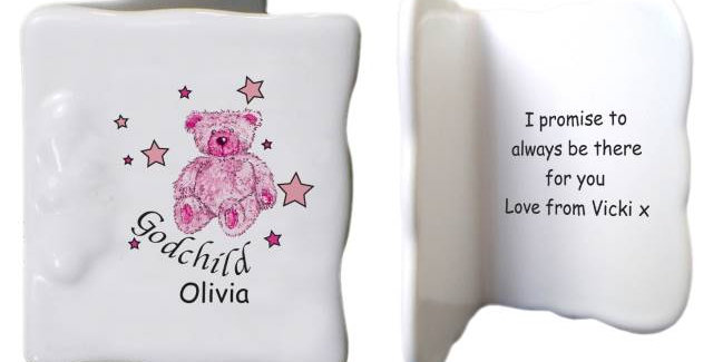 T&S Pink Goddaughter Bone China Message Card