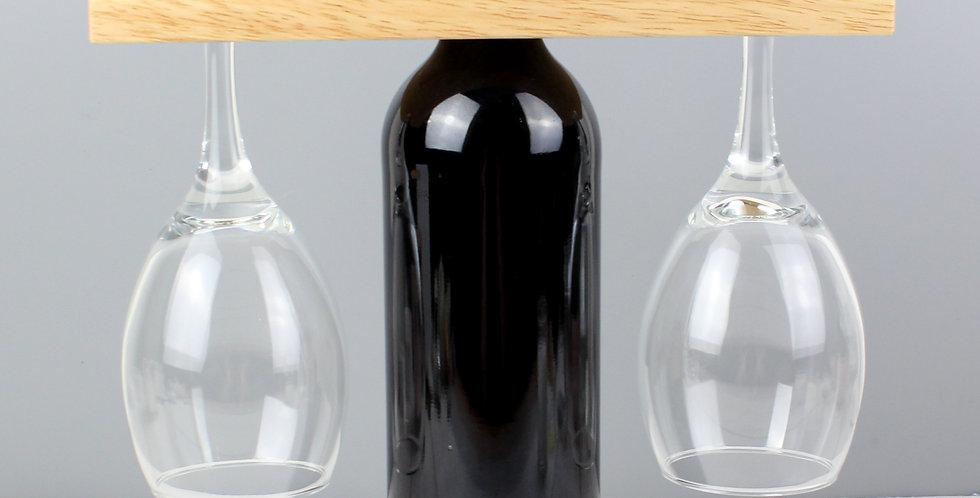 initials wine glass & bottle holder