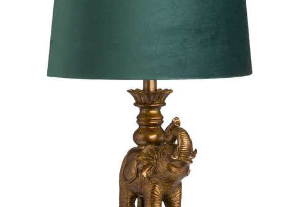 gold elephant lamp
