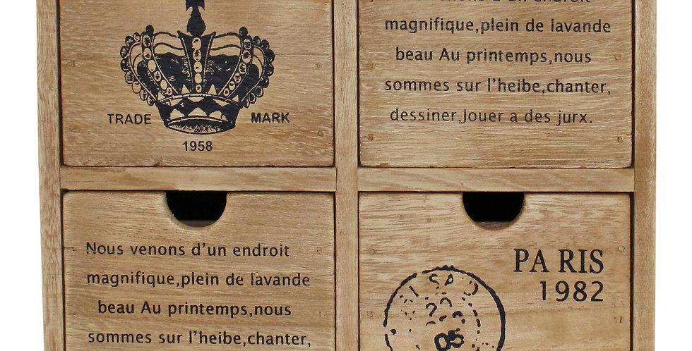 Rustic 4 drawer Storage