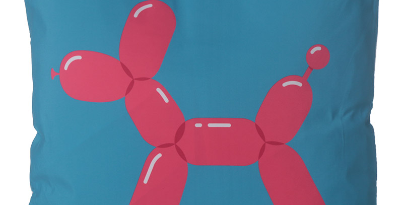 balloon design cushion