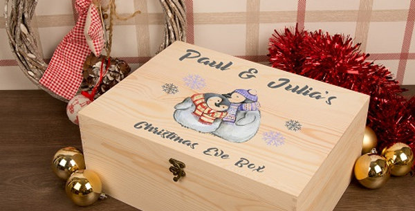 Cuddling Penguins Xmas Eve Box for Couples