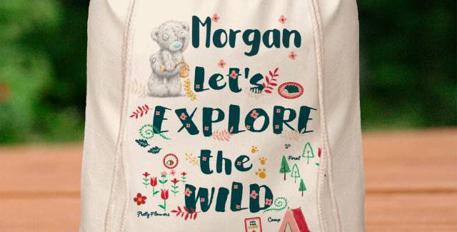 Me To You Let's Explore the Wild Drawstring Bag