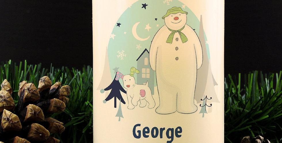 the snowman and snowdog  led candle