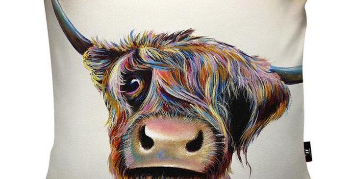 Bad Hair Day Highland Cow Cushion