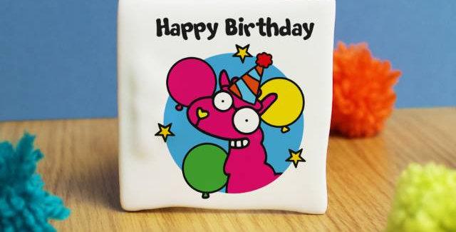Llama Happy Birthday Message Card