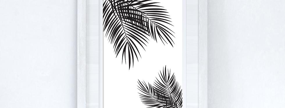 Palm Leaves Black Home Simple Home Wall Decor Print