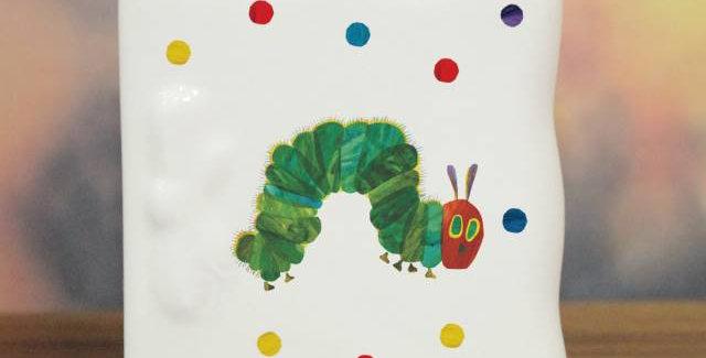 The Very Hungry Caterpillar.' ceramic card