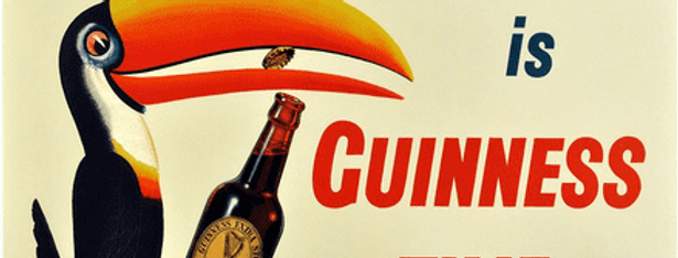 Guinness Toucan metal sign