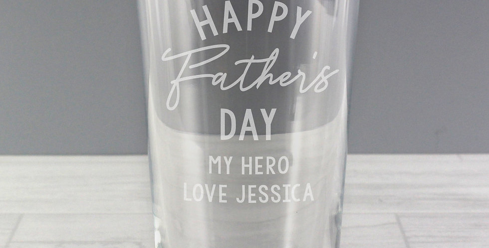 Personalised Father's Day Pint Glass