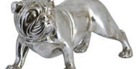 Winston The Bulldog Antique Silver Ornament