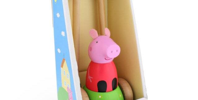 Peppa Pig Wooden Push Along
