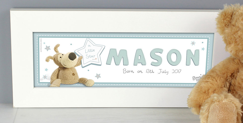 Personalised Boofle  Name Frame