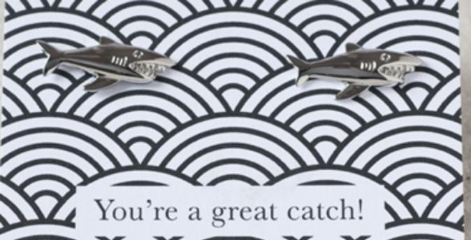 Great Catch Shark Cufflinks