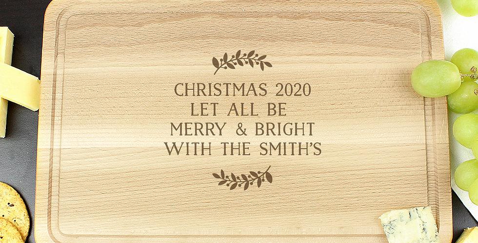 Personalised Wreath Chopping Board