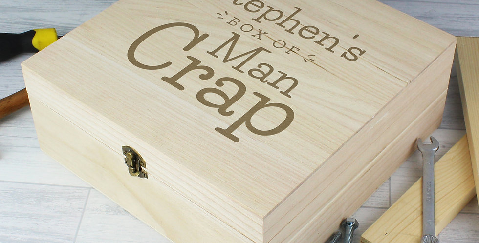 man crap keepsake box