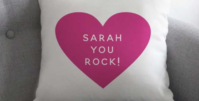 personalised heart cushion