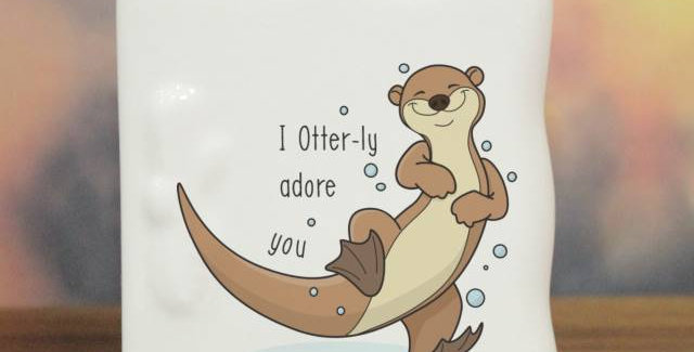 Otter-ly Adore You Message Card