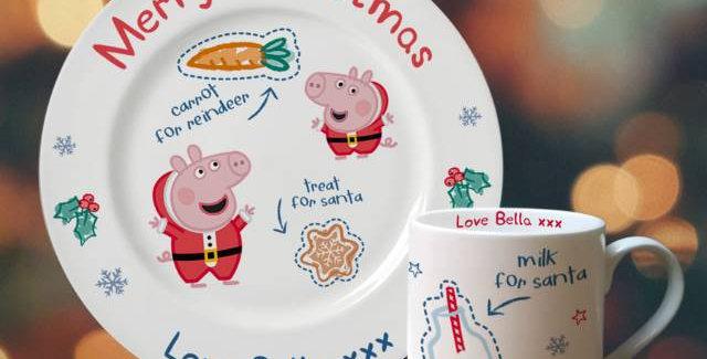 Personalised Peppa Pig™ Santa Treat Set