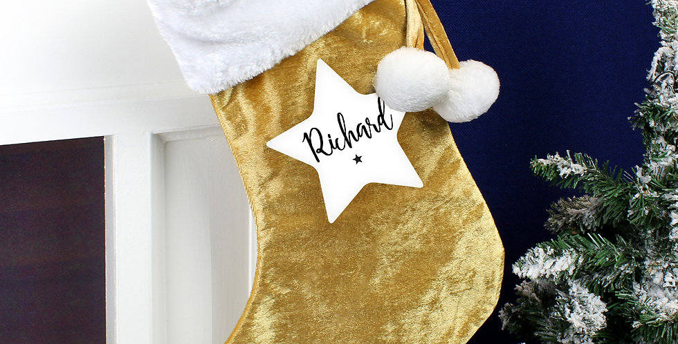 personalised gold stocking