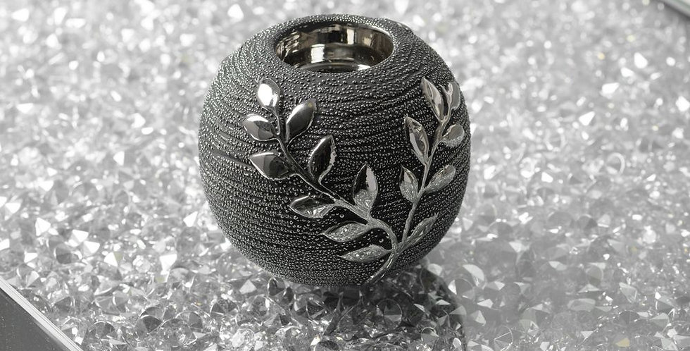HESTIA® textured grey branch tealight holder