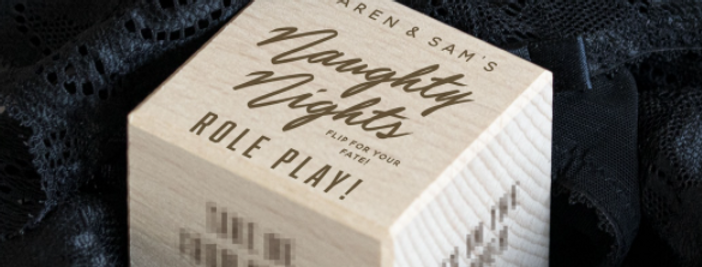Personalised Naughty Nights In Dice