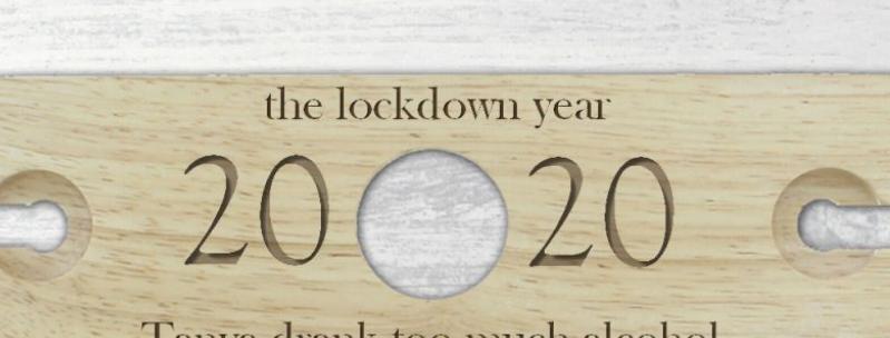 personalised year glass & bottle holder