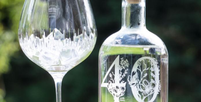 engraved milestone gin